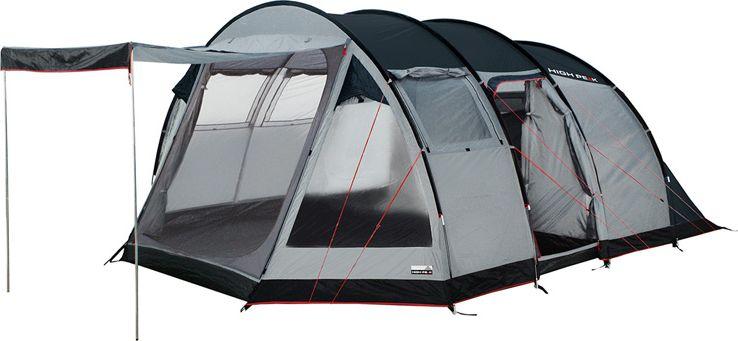 Палатка High Peak Durban 6, цвет: светло-серый, темно-серый, 525 х 360 х 210 см. 1222312223Большая кемпинговая палатка High Peak Durban 6 предназначена для семейного отдыха.Палатка имеет две комнаты и два входа. Большой тамбур позволит комфортно разместить бивуачное снаряжение и продукты. Швы проклеены. Внутренняя палатка имеет съемный разделитель, что позволяет организовать пространство под вашу семью. Длина спального места 220 см, ширина 120 и 240 см позволяют комфортно разместиться внутри шестерым туристам. Несколько вентиляционных окон позволяют хорошо проветривать палатку даже при закрытом входе. 2 окна из ПВХ с занавесками. На входе во внутреннюю палатку окно с москитной сеткой. Имеется держатель для фонарика, внутренние карманы. В комплекте идет прочный компрессионный мешок, который позволяет максимально компактно упаковать палатку для транспортировки.Дуги: фибергласс 11 мм/сталь 16 мм.Тент: полиэстер 190Т 4000 мм.Дно: армированный полиэтилен.