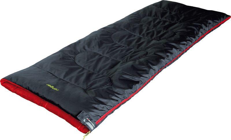 Спальный мешок-одеяло High Peak Ranger, цвет: антрацит, красный, левосторонняя молния20039Летний спальник-одеяло High Peak Ranger предназначен для походов выходного дня или семейных выездов на пикник. Рекомендуем спальник людям с ростом до 180 см. В верхней части молния фиксируется клапаном на липучке Velcro. На молнии 2 бегунка, которые позволяют расстегнуть спальник со стороны ног и сделать вентиляционное окно. Спальники, имеющие левую и правую молнии, можно состегивать, чтобы получить большой спальник на двух человек. Спальник утеплен высокоэффективным полым волокном Hollowfiber с силиконовым покрытием волокон. Плотность утеплителя равна 200 г/м2. В комплекте со спальником идет транспортировочный чехол объемом 7,7 л.