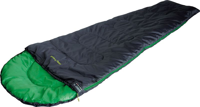 Спальный мешок High Peak Easy Travel, цвет: антрацит, зеленый, левосторонняя молния внешние аккумуляторы bradex аккумулятор портативный молочный заряд