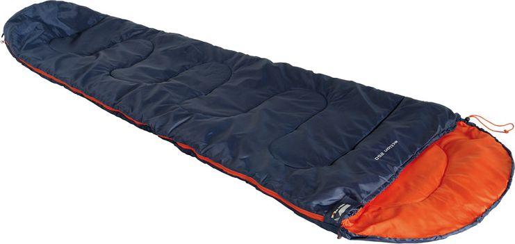 Спальный мешок High Peak Action 250, цвет: синий, оранжевый, левосторонняя молния спальник чайка large 250