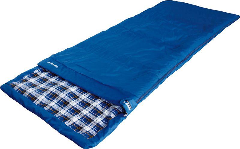 Спальный мешок-одеяло High Peak Highland, цвет: синий, левосторонняя молния21232Спальный мешок High Peak Highland - лучший выбор для летних семейных путешествий. Спальник увеличенной ширины и длины позволяет не чувствовать дискомфорт даже при застегнутой боковой молнии. Если расстегнуть молнию, вы получите большое одеяло 180 х 230 см. Внутренняя ткань спальника выполнена из 100% хлопковой фланели, мягкой и шелковистой. Ткань приятна телу и хорошо испаряет влагу. Вдоль молнии идет защита от закусывания замком молнии ткани спальника. Чтобы холодный воздух не проникал сквозь молнию, ее закрывает тепловой клапан. В верхней части молния фиксируется клапаном на липучке Velcro. На молнии два бегунка, которые позволяют расстегнуть спальник со стороны ног и сделать вентиляционное окно. Спальник утеплен слоем силиконизированного утеплителя Dura Loft, смешанного с холлофайбером в соотношении 70%/30% верх 1х200 г/м2 + низ 1х200 г/м2. В комплекте со спальником идет транспортировочный чехол.