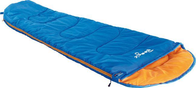 Спальный мешок High Peak Boogie, цвет: синий, оранжевый, левосторонняя молния23034Легкий детский спальный мешок High Peak Boogie с синтетическим наполнителем имеет форму кокона. Спальный мешок имеет двухстороннюю молнию с защитой от заедания. Наполнитель Dura Loft + Hollowfiber 70%/30% гарантирует комфортный сон при температуре воздуха +14°С. Спальный мешок оптимально подходит для летних походов и отдыха за городом. Спальник снабжен внутренним карманом, плоским капюшоном и возможностью состегивания с другим спальником. В комплекте со спальником идет компрессионный транспортировочный чехол.