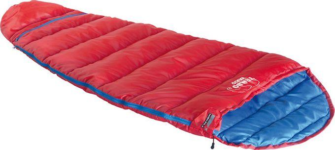 Спальный мешок High Peak Tembo Vario, цвет: красный, синий, левосторонняя молния23042Легкий детский спальный мешок High Peak Tembo Vario с синтетическим наполнителем. Изделие растет вместе с вашим ребенком. За счет вшитой молнии внизу, спальник может увеличиваться или сокращаться в длине. Наполнитель Dura Loft + Hollowfiber 70%/30% гарантирует комфортный сон при температуре воздуха +12°С. Оптимально подходит для летних походов и отдыха за городом. В комплекте со спальником идет компрессионный транспортировочный чехол, объем 10 литров. Машинная стирка при 30 ° C