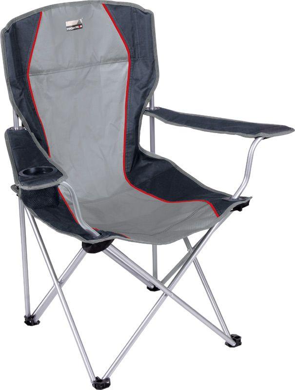 Кресло складное High Peak Campingstuhl Salou, цвет: серый, темно-серый, 54 х 43,5 х 41/93 смKOCAc6009LEDСделать свой отдых максимально приятным позволит большое и очень удобное кресло High Peak Campingstuhl Salou. В подлокотнике расположен держатель для напитков. Надежная рама изготовлена из стальной трубки 16 мм с порошковым покрытием, сиденье-спинка из прочного материала полиэстер 600D. Кресло легко собирается и занимает мало места в багаже. Комплектуется транспортировочным чехлом.