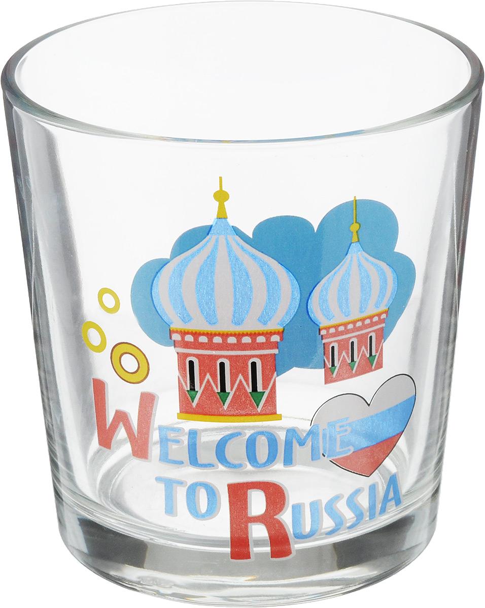 Стакан OSZ Ода. Вэлкам ту раша. Кремль, 250 мл03с785_флагСтакан OSZ Ода. Вэлкам ту раша. Кремль изготовлен из стекла и декорирован принтом.Диаметр (по верхнему краю): 8 см. Высота: 8 см. Объем: 250 мл.