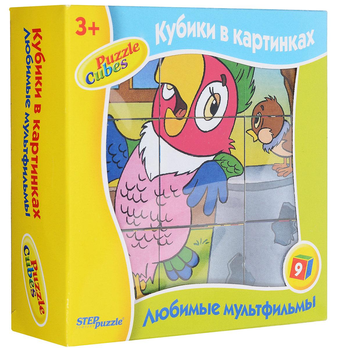 Step Puzzle Кубики Попугай Кеша