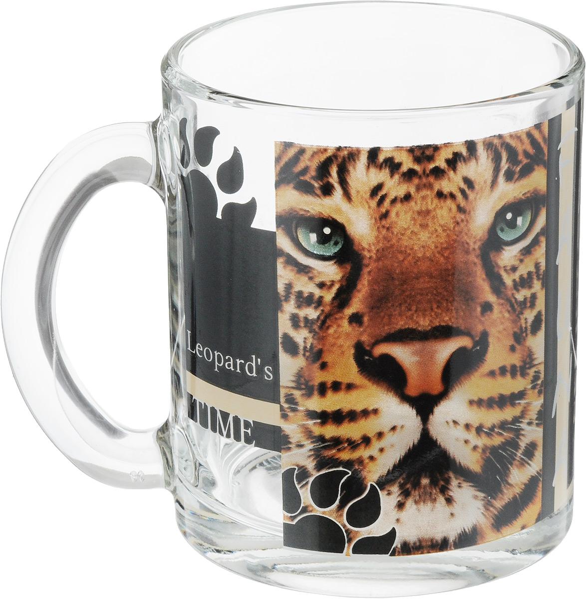 Кружка OSZ Чайная. Дикие кошки. Леопард, 320 мл115510Кружка OSZ Чайная. Дикие кошки. Леопард изготовлена из стекла и декорирована принтом.Диаметр (по верхнему краю): 8 см. Высота: 9,5 см. Объем: 320 мл.