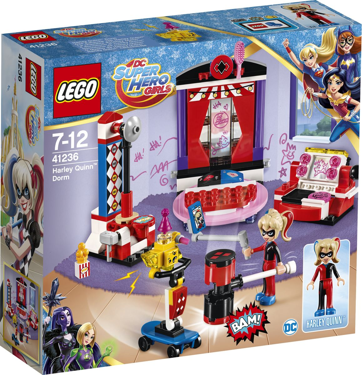 LEGO DC Super Hero Girls Конструктор Дом Харли Квинн 41236 конструктор lego super hero girls харли квинн спешит на помощь 217 элементов 41231