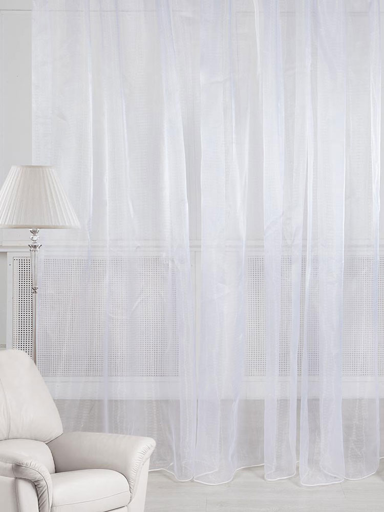 Тюль ТД Текстиль, на ленте, цвет: белый, высота 270 см106-026Тюль однотонный, выполнен из вуали.