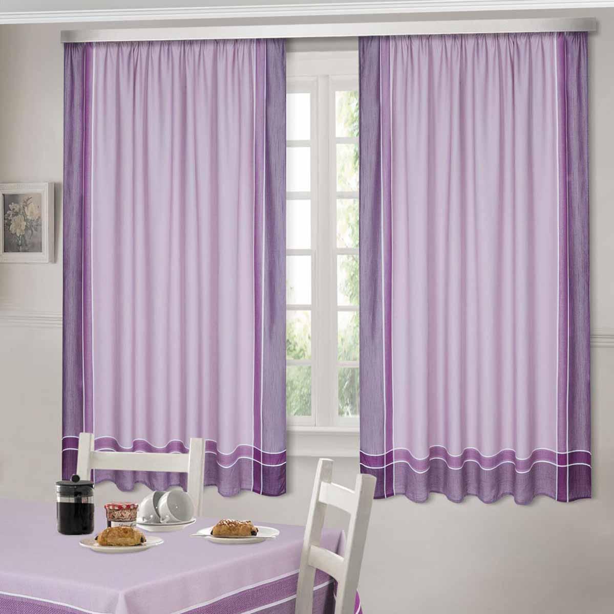 Комплект штор ТД Текстиль Шик, на ленте, цвет: сиреневый, высота 180 смS03301004Шторы выполнены из искусственной ткани под лен. Цвета в ассортименте. В наличии присутствуют скатерти из этой же ткани в двух размерах.