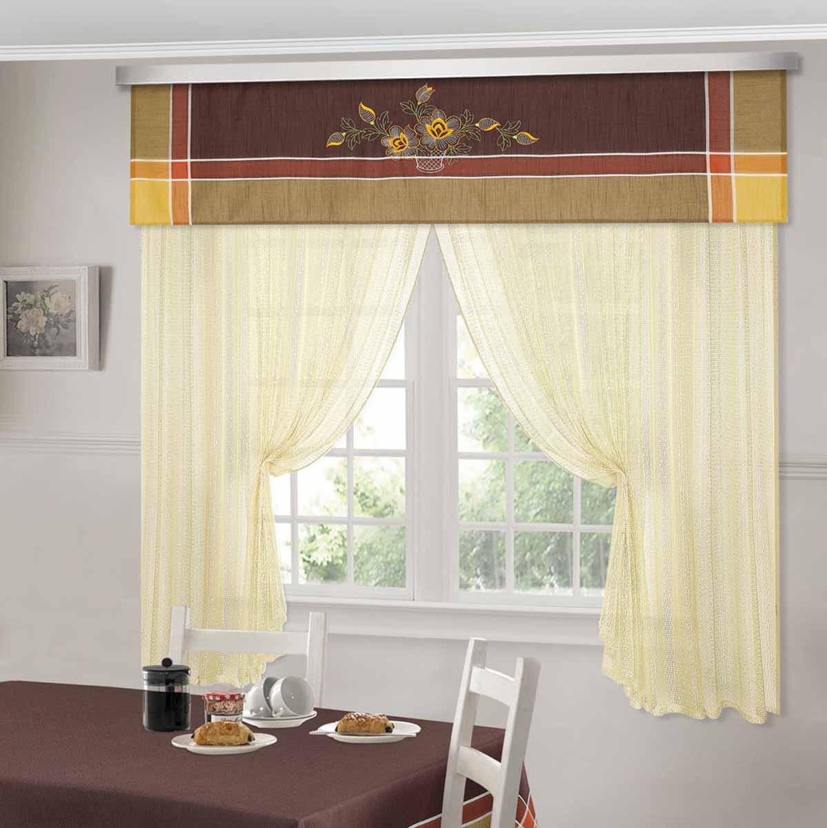 Комплект штор ТД Текстиль Шик, на ленте, цвет: венге, высота 180 см. 92527CLP446Шторы выполнены из искусственной ткани под лен. Цвета в ассортименте. В наличии присутствуют скатерти из этой же ткани в двух размерах.