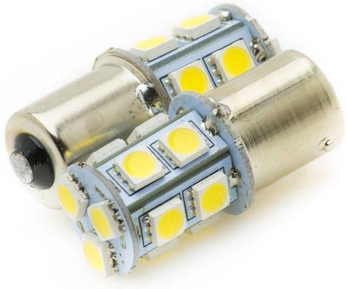 Автолампа светодиодная Jpower, 2 шт. 1156-13SMD-505097916771Надежная 1-контактная светодиодная лампа в блистере с 13 яркими светодиодами. Свет белый 5000К. В упаковке 2 шт.