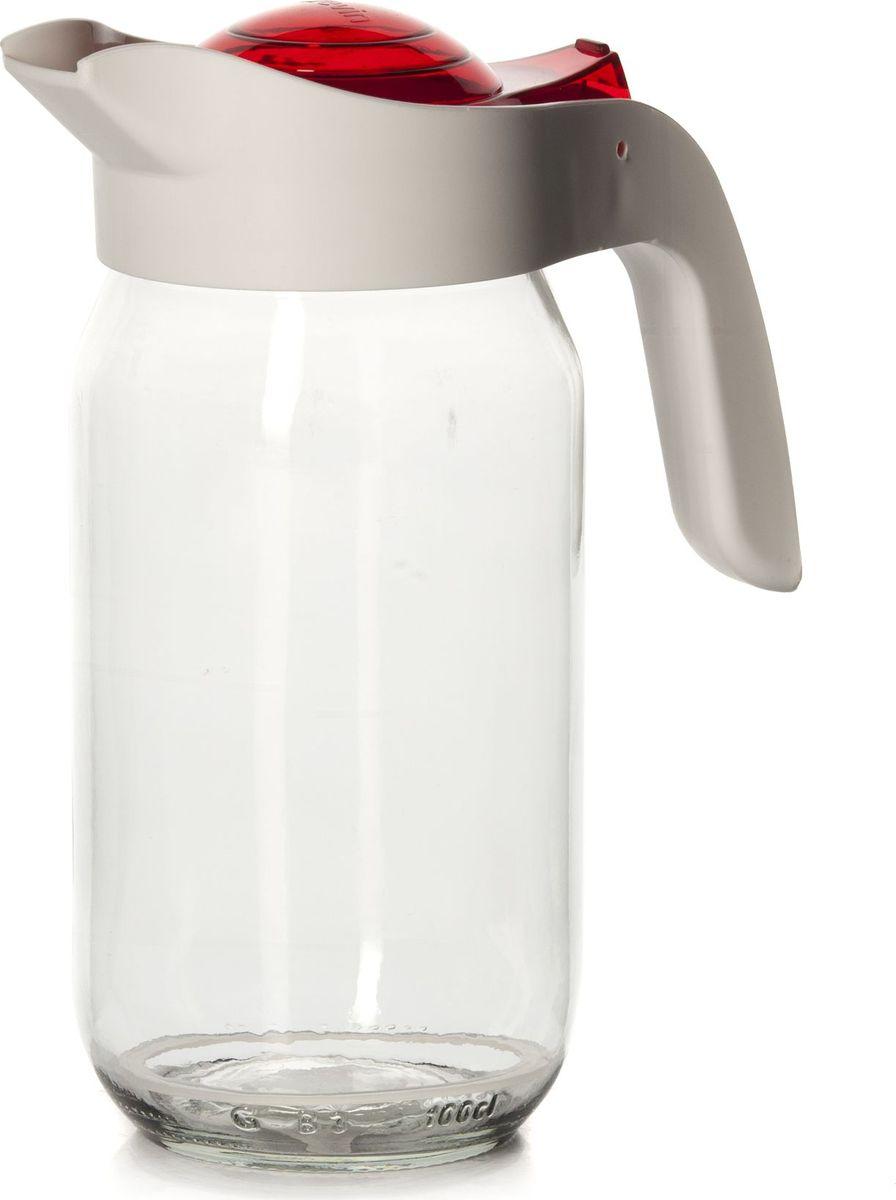 Кувшин Herevin, 1 л. 111271-2052293409Кувшин Herevin - элегантно украсит ваш стол. Кувшин оснащен удобной ручкой и плотно закрывающейся пластиковой крышкой. Благодаря этому внутри сохраняется герметичность, и напитки дольше остаются свежими. Кувшин прост в использовании, достаточно просто наклонить его и налить ваш любимый напиток. Форма крышки обеспечивает наливание жидкости без расплескивания. Изделие прекрасно подойдет для подачи воды, сока, компота и других напитков. Кувшин Herevin дополнит интерьер вашей кухни и станет замечательным подарком к любому празднику.
