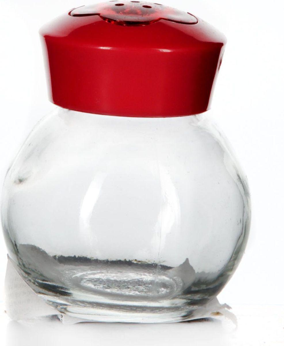 Солонка Herevin, 60 мл. 121055-00021395599Солонка прозрачная с красной крышкой, V= 60 мл, 55*55*65 мм