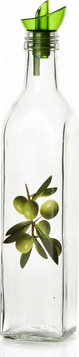 Емкость для жидкости Herevin, 500 мл. 151135-000VT-1520(SR)Бутыль для жидких специй с дозатором V=500 мл, 5,7*5,7*29 см, с рис. Оливки