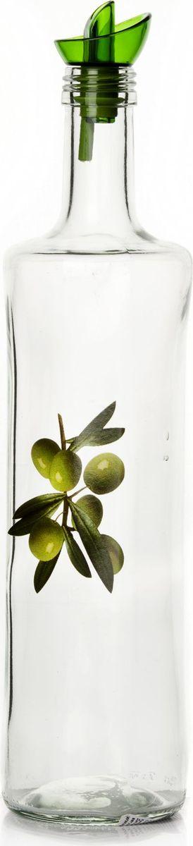 Емкость для жидкости Herevin, 750 мл. 151157-000VT-1520(SR)Бутыль для жидких специй с дозатором V=750 мл, 8*8*33 см, с рис. Оливкии