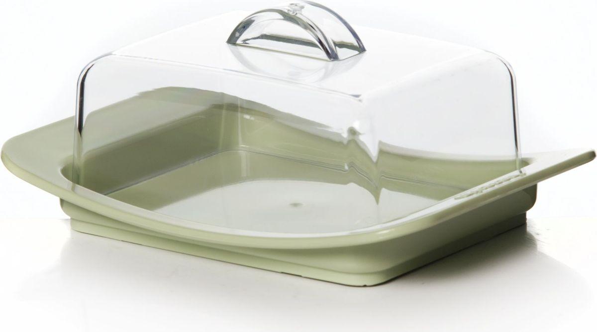 Масленка Herevin, цвет: оливковый, прозрачный. 161030-50054156Масленка Herevin, выполненная из высококачественного пластика, предназначена для красивой сервировки и хранения масла. Она состоит из подноса и прозрачной крышки с ручкой. На подносе имеются специальные выемки, благодаря которым крышка легко на него устанавливается.Благодаря такой масленке ваше масло всегда будет свежим.