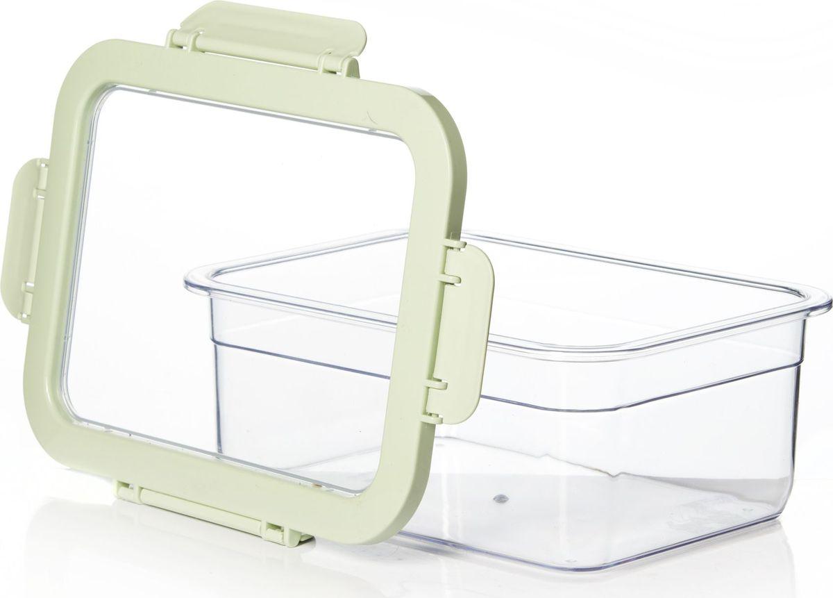 Контейнер для продуктов Herevin, цвет: светло-зеленый, прозрачный, 2,2 лVT-1520(SR)Контейнер для продуктов Herevin изготовлен из качественного пищевого пластика без содержания BPA. Крышка с 4 защелками плотно и герметично закрывается, что позволяет сохранять продукты свежими долгое время. Прозрачные стенки позволяют видеть содержимое. Такой контейнер подойдет для использования дома, его можно взять с собой на работу, учебу, в поездку. Можно использовать в микроволновой печи без крышки, ставить в холодильник. Нельзя мыть в посудомоечной машине.Размеры контейнера (с крышкой): 23 х 17,5 х 8,5 см.