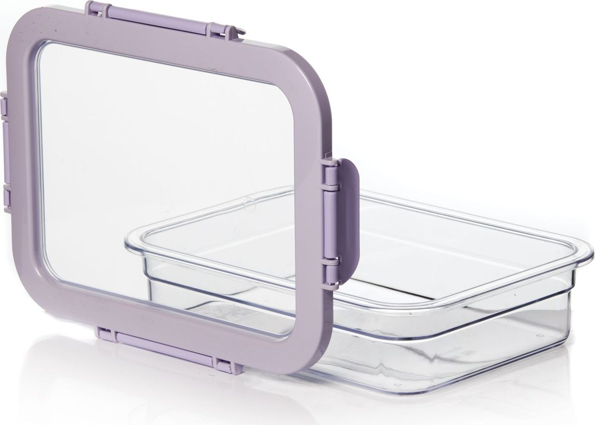 Контейнер для продуктов Herevin, 1,3 л. 161421-500VT-1520(SR)Контейнер для продуктов Herevin изготовлен из качественного пищевого пластика без содержания BPA. Крышка с защелками плотно и герметично закрывается, поэтому продукты дольше остаются свежими. Прозрачные стенки позволяют видеть содержимое. Такой контейнер подойдет для использования дома, его можно взять с собой на работу, учебу, в поездку.