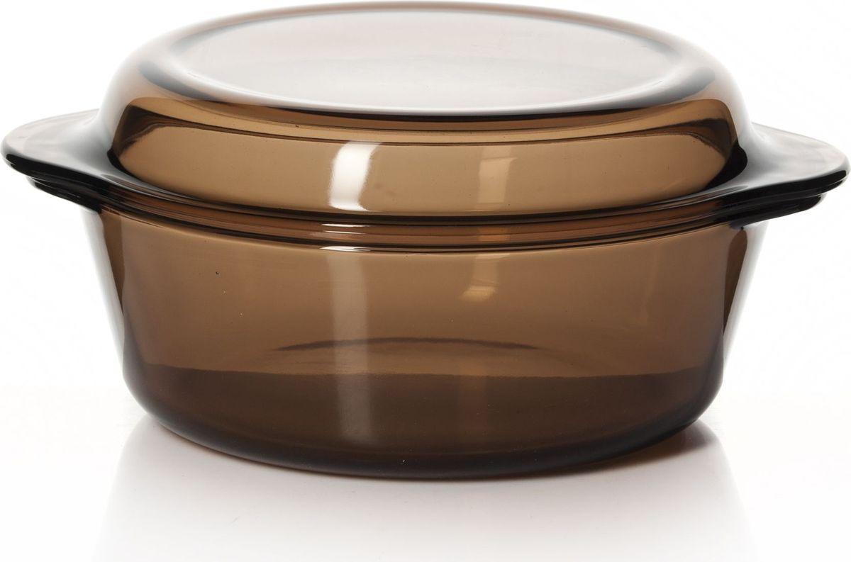 Кастрюля для СВЧ Pasabahce, с крышкой, цвет: коричневый, 2,1 л. 59003BR68/5/4Круглая кастрюля для СВЧ Pasabahce изготовлена из термостойкого стекла и оснащена крышкой, которую также можно использовать как отдельную емкость. Стекло - самый безопасный для здоровья материал. Посуда из стекла не вступает в реакцию с готовящейся пищей, а потому не выделяет никаких вредных веществ, не подвергается воздействию кислот и солей. Из-за невысокой теплопроводности пища в стеклянной посуде гораздо медленнее остывает. Стеклянная посуда очень удобна для приготовления и подачи самых разнообразных блюд: супов, вторых блюд, десертов. Благодаря прозрачности стекла, за едой можно наблюдать при ее готовке, еду можно видеть при подаче, хранении. Используя кастрюлю, вы можете как приготовить пищу, так и изящно подать ее к столу, не меняя посуды. Благодаря гладкой идеально ровной поверхности посуда легко моется.Можно использовать в духовках, микроволновых печах и морозильных камерах (выдерживает температуру от - 30°C до 300°C). Можно мыть в посудомоечной машине.