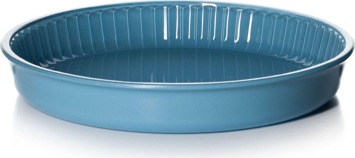 Форма для СВЧ Pasabahce, диаметр 32 см. 59014BLJ1302072Круглая форма Pasabahce выполнена из жаропрочного стекла, что позволяет использовать ее для запекания различных блюд. Форма не вступает в реакцию с готовящейся пищей, не выделяет никаких вредных веществ и не подвергается воздействию кислот и солей. Из-за невысокой теплопроводности пища в стеклянной посуде гораздо медленнее остывает. Поэтому в такой форме вы можете как приготовить пищу, так и изящно подать ее к столу, не меняя посуды. Благодаря прозрачности стекла за едой можно наблюдать при ее готовке. Стеклянная посуда очень удобна для приготовления и подачи самых разнообразных блюд.Форма дополнена рельефом с внутренней стороны. Посуду можно использовать в СВЧ и духовом шкафу при температуре до +300°С, ставить в морозилку при температуре -40°С, а также мыть в посудомоечной машине. Диаметр формы: 32 см.