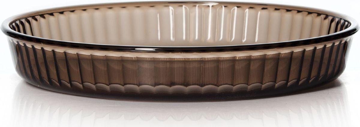 Форма для СВЧ Pasabahce, цвет: коричневый, диаметр 32 см. 59014BR59014BRКруглая форма Pasabahce выполнена из термостойкого цветного стекла. Ее можно использовать как для приготовления пищи, так идля изящной подачи к столу. Может быть использована в микроволновых печах, духовках и морозильных камерах (выдерживает температуру от - 30°C до 300°C).Диаметр: 32 см.