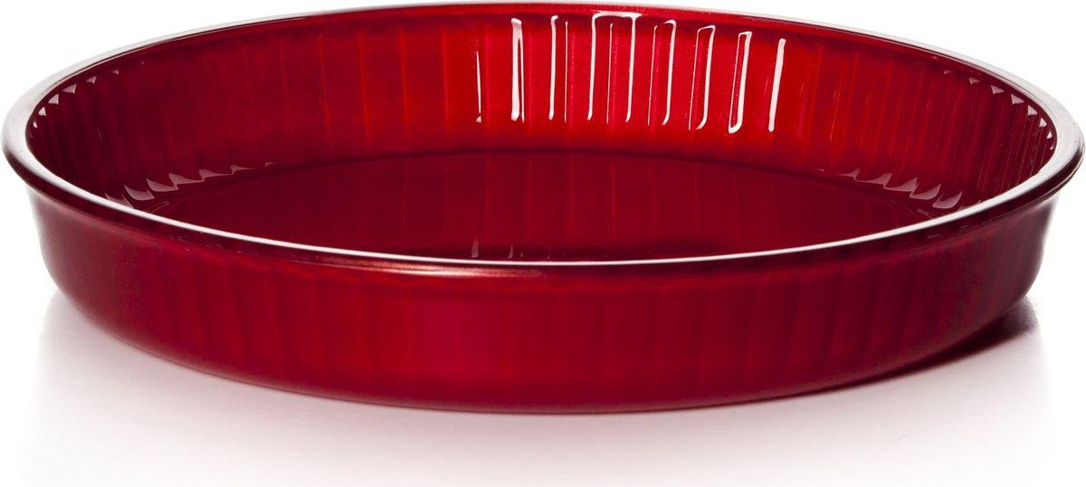 Форма для СВЧ Pasabahce, цвет: красный, диаметр 32 см. 59014R59014RКруглая форма Pasabahce выполнена из термостойкого цветного стекла. Ее можно использовать как для приготовления пищи, так идля изящной подачи к столу. Может быть использована в микроволновых печах, духовках и морозильных камерах (выдерживает температуру от - 30°C до 300°C).Диаметр: 32 см.