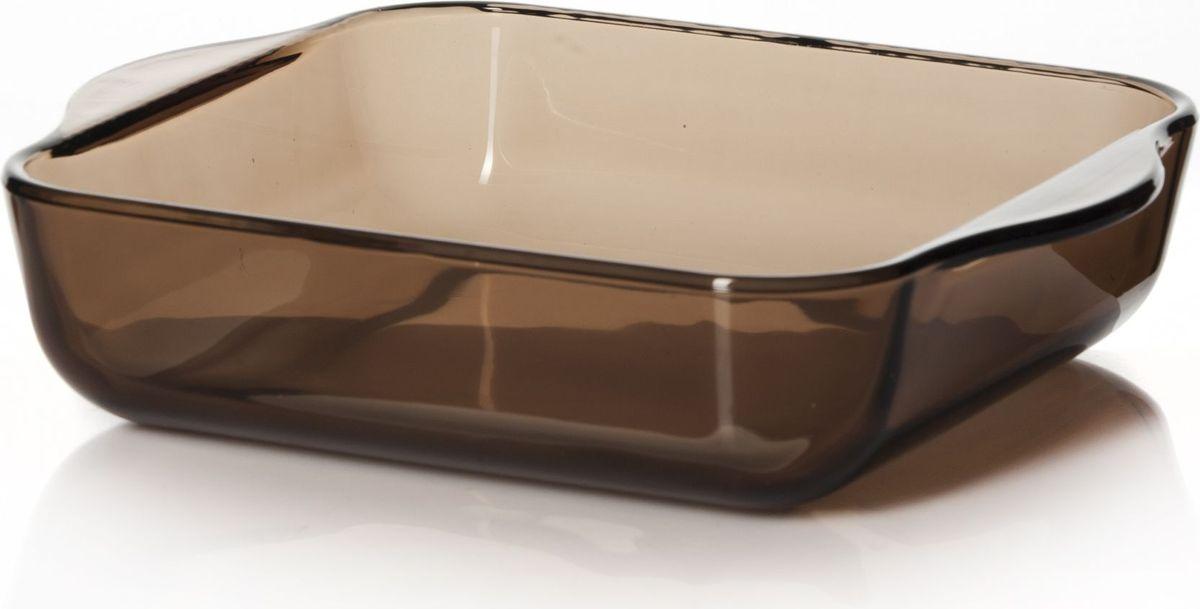 Лоток для СВЧ Pasabahce, цвет: коричневый, 1,95 л. 59034BR54 009312Посуда для СВЧ лоток квадратный б/крышки 256*220 мм 1950 мл коричн.