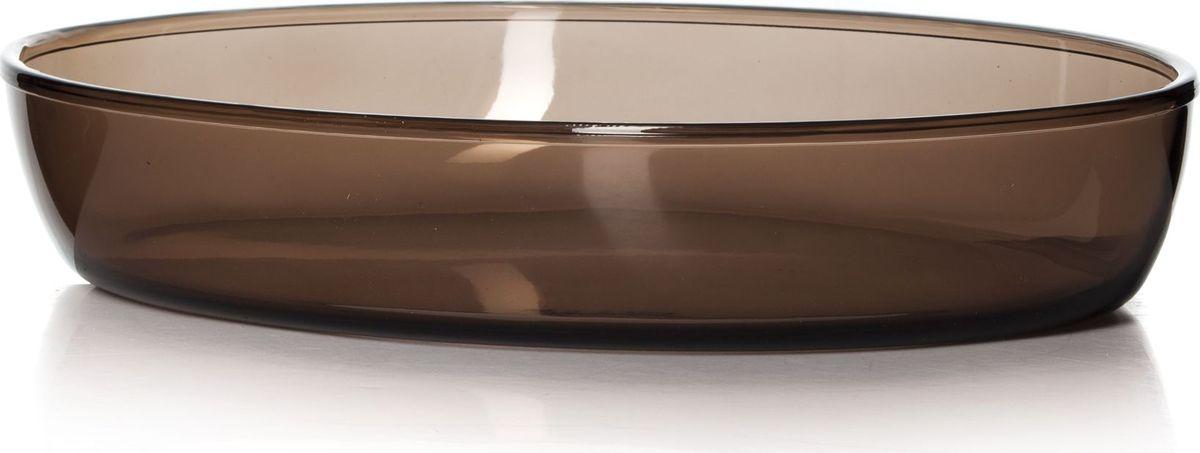 Форма для СВЧ Pasabahce, цвет: коричневый, 35 х 24 см. 59074BR59074BRОвальная форма Pasabahce выполнена из термостойкого цветного стекла. Ее можно использовать как для приготовления пищи, так идля изящной подачи к столу. Может быть использована в микроволновых печах, духовках и морозильных камерах (выдерживает температуру от - 30°C до 300°C).Размер: 35 х 24 см.