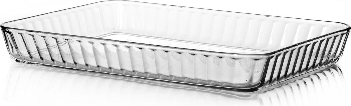 Лоток для СВЧ Pasabahce, 3,5 л. 5920468/5/4Прямоугольный лоток для СВЧ Pasabahce выполнен из жаропрочного стекла. Изделие прекрасно подойдет длявыпекания десертов - кексов, пирогов, тортов.Стекло - самый безопасный для здоровья материал. Посуда из стекла не вступает в реакцию с готовящейся пищей,а потому не выделяет никаких вредных веществ, не подвергается воздействию кислот и солей. Из-за невысокойтеплопроводности пища в ней гораздо медленнее остывает. Стеклянная посуда очень удобна для приготовления и подачи самых разнообразных блюд: супов, вторых блюд,десертов. Благодаря прозрачности стекла, за едой можно наблюдать при ее готовке, еду можно видеть приподаче, хранении. Используя такую посуду, вы можете как приготовить пищу, так и изящно подать ее к столу, неменяя посуды. Благодаря гладкой идеально ровной поверхности посуда легко моется. Можно использовать в духовках, микроволновых печах и морозильных камерах (выдерживает температуру от - 30°C до 300°C). Можно мыть в посудомоечной машине.