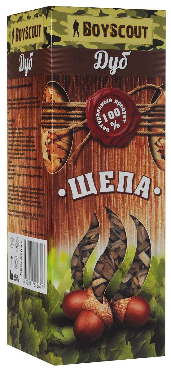 Щепа для копчения Boyscout Дуб, 1 лRUC-01Дубовая щепа рекомендуется для копчения мяса и птицы. Дубовая древесина содержит большое количество дубильных веществ, необычайно полезных и придающих копченостям изысканный цвет и неповторимый аромат.Объем: 1 л.