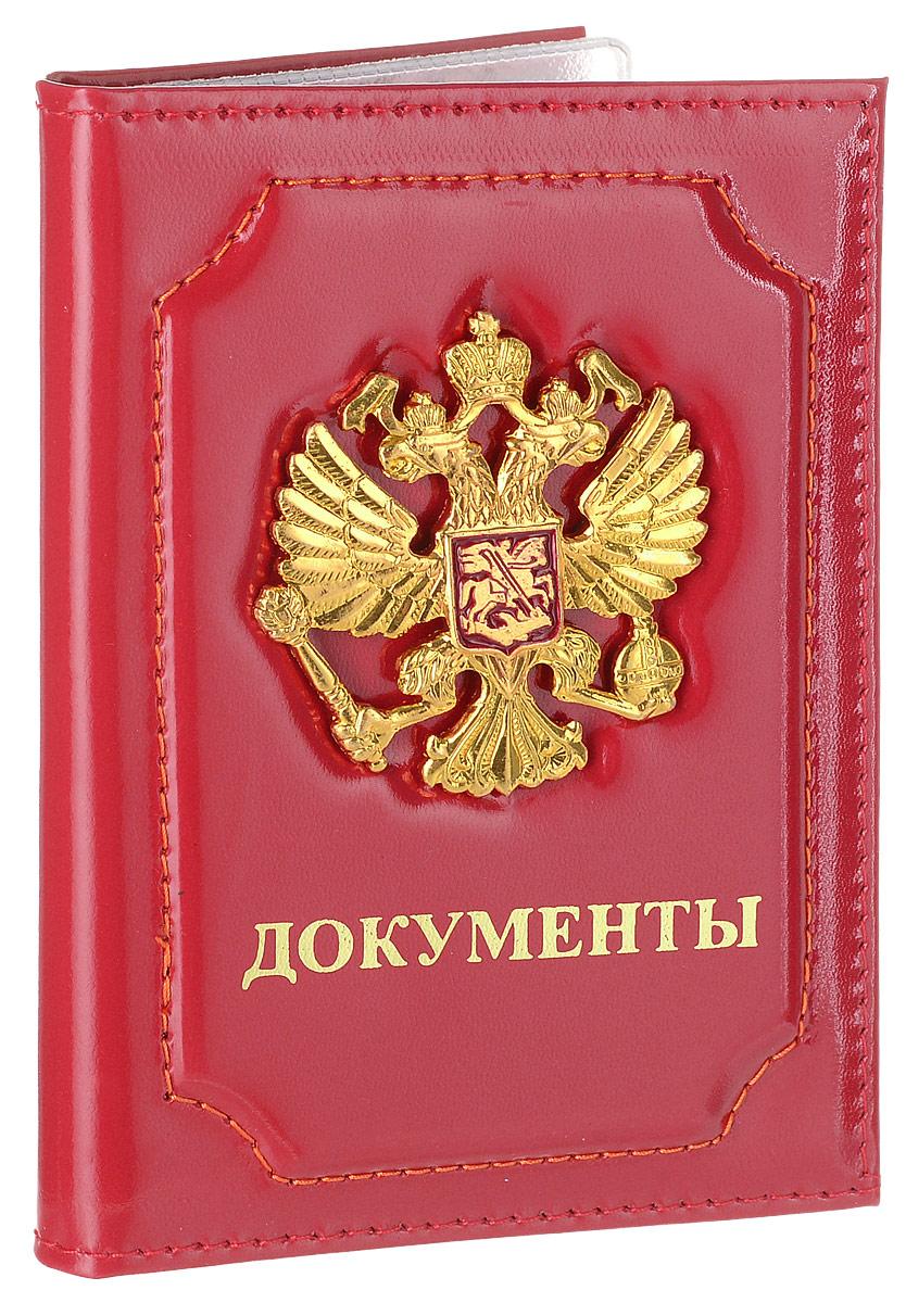 Обложка для автодокументов Главдор, цвет: красный. GL-262EL-NK216-BV0013-000Изысканная обложка для автодокументов Главдор изготовлена из натуральной кожи. Лицевая сторона оформлена изображением герба России и надписью Документы. Внутри прозрачный вкладыш из ПВХ, который защитит ваши документы от грязи и потертостей.Такая обложка для автодокументов станет стильным аксессуаром, который отлично впишется в ваш образ.