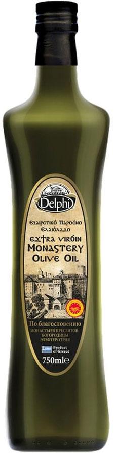 Delphi масло оливковое Extra Virgin монастырское, 750 мл81.0057,1Масло оливковое Монастырское по благословению Монастыря ПресвятойБогородицы Элефтеротрия, с браслетом оберегом Комбоскини.