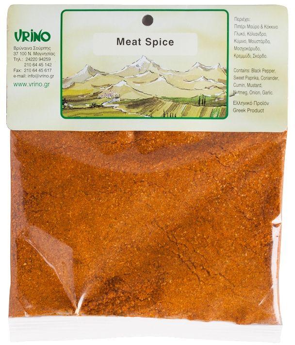 Vrino приправа для мяса, 50 г18.0002,1Продукт из Греции. Приправа для мясных блюд идеально подходит к любому виду мяса в любом его исполнении.
