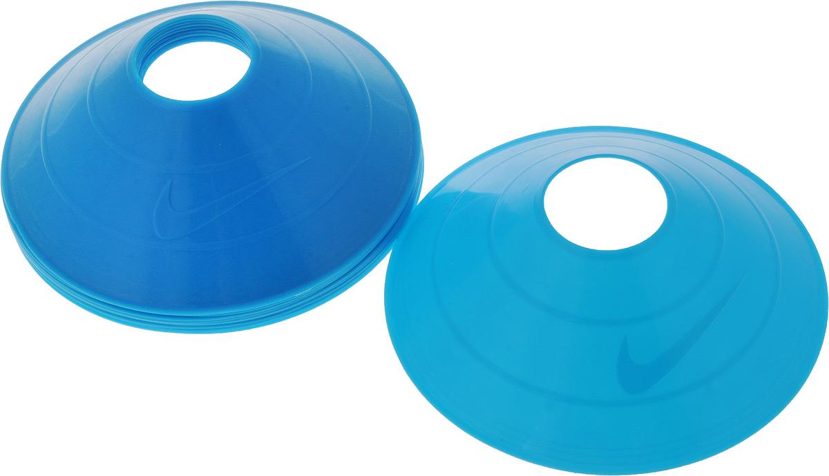 Тренировочные конусы Nike  10 Pack Training Cones Ns Volt , цвет: синий, 10 шт - Аксессуары для командных видов спорта