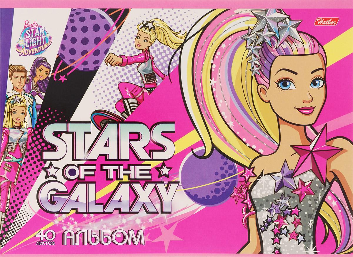 Hatber Альбом для рисования Barbie 40 листов 157342010440Альбом для рисования Hatber Barbie порадует маленькую художницу и вдохновит ее на творчество.Альбом изготовлен из белоснежной бумаги с яркой обложкой из плотного картона.Внутренний блок альбома, соединенный двумя металлическими скрепками, состоит из 40 листов. Высокое качество бумаги позволяет рисовать в альбоме карандашами, фломастерами, акварельными и гуашевыми красками.