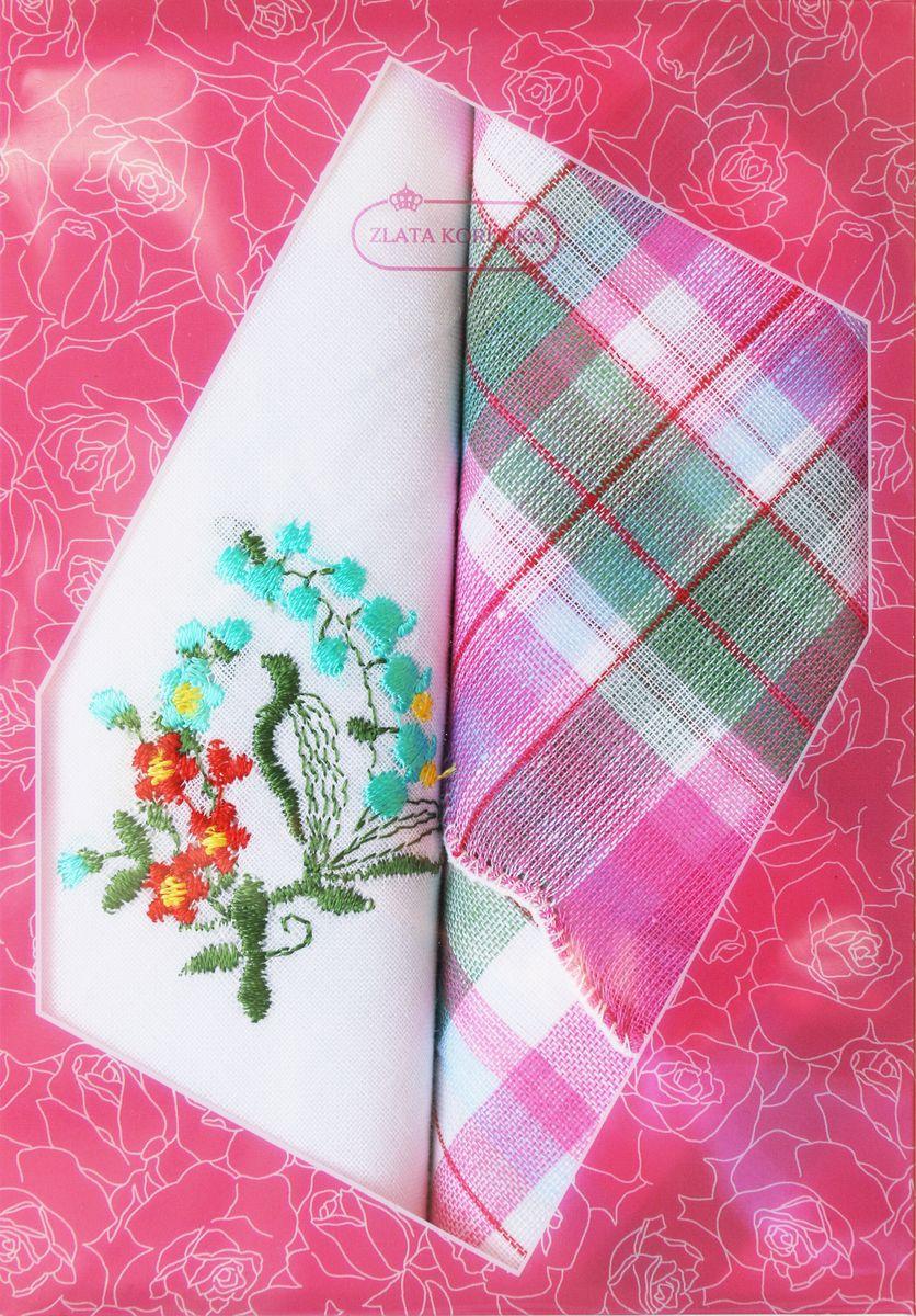 Платок носовой женский Zlata Korunka, цвет: мультиколор, 2 шт. 40222-11. Размер 29 см х 29 см39864|Серьги с подвескамиОригинальный женский носовой платок Zlata Korunka изготовлен из высококачественного натурального хлопка, благодаря чему приятен в использовании, хорошо стирается, не садится и отлично впитывает влагу. Практичный и изящный носовой платок будет незаменим в повседневной жизни любого современного человека. Такой платок послужит стильным аксессуаром и подчеркнет ваше превосходное чувство вкуса.