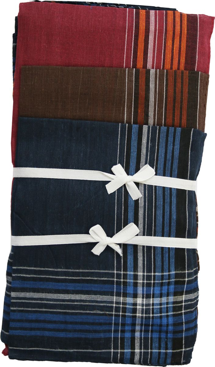 Платок носовой мужской Zlata Korunka, цвет: красный, коричневый, синий, 3 шт. 45449-3. Размер 27 см х 27 смСерьги с подвескамиМужской носовой платой Zlata Korunka изготовлен из натурального хлопка, приятен в использовании, хорошо стирается, материал не садится и отлично впитывает влагу. Оформлена модель контрастным принтом.