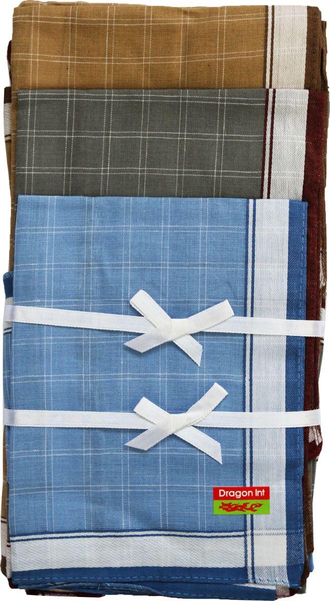 Платок носовой мужской Zlata Korunka, цвет: голубой, серый, коричневый, 6 шт. 45495-6. Размер 27 см х 27 см39864|Серьги с подвескамиМужской носовой платой Zlata Korunka изготовлен из натурального хлопка, приятен в использовании, хорошо стирается, материал не садится и отлично впитывает влагу. Оформлена модель контрастным принтом.