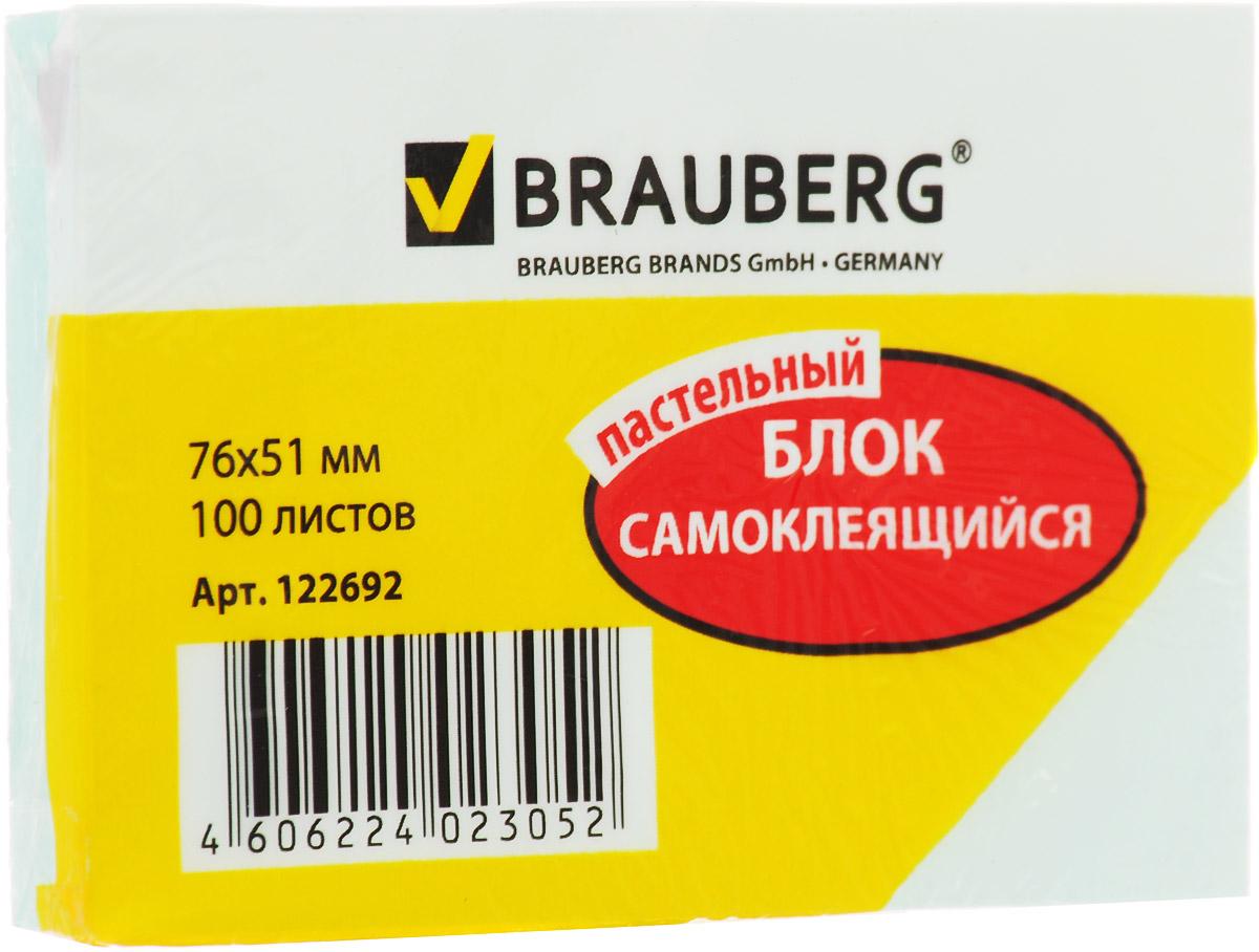 Brauberg Бумага для заметок 100 листов цвет ментоловый