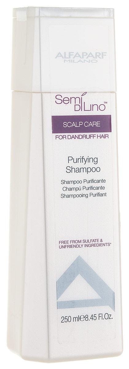 Alfaparf Semi Di Lino Scalp Puryfining Shampoo Очищающий шампунь, 250 млMP59.4DОчищающий шампунь против перхоти удаляет ороговевшие клетки и ликвидирует причину появления перхоти, предотвращая ее дальнейшее появление. Объем: 250 мл