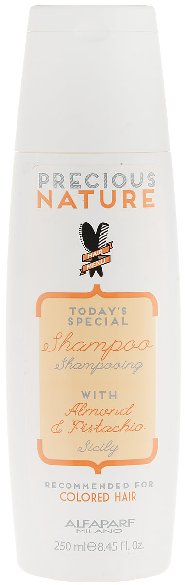 Alfaparf Precious Nature Pure Color Protection Shampoo Шампунь для окрашенных волос, 250 млSatin Hair 7 BR730MNМягкий бережно очищающий шампунь сохраняет глубину и насыщенность цвета, поддерживая блеск и качество волос. Уникальная формула, в состав которой входит эссенция фисташки*, известная своими редкими антиоксидантными и фотозащитными свойствами, а также масло сладкого миндаля, продлевает интенсивность цветовых нюансов и блеск, защищает структуру волос. *100% натуральный ингредиент. НЕ СОДЕРЖИТ: сульфатов, парабенов, парафинов, минеральных масел, синтетических веществ, аллергенов*гипоаллергенные экстракты растений и ароматизаторыОбъем: 250 мл