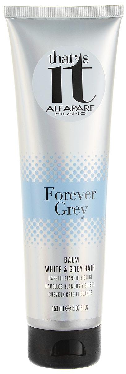 Alfaparf Thats it Forever Grey Balm Бальзам для светлых и седых волос, 150 млFS-36054Восстанавливающий бальзам для натуральных и седых, окрашенных и светлых волос. Жемчужные светоотражающие частицы создают безграничную игру цвета, делают волосы максимально блестящими. Входящий в состав шампуня фитокератин увлажняет и защищает волосы, делая их более сильными, мягкими и шелковистыми.Объем: 150 мл