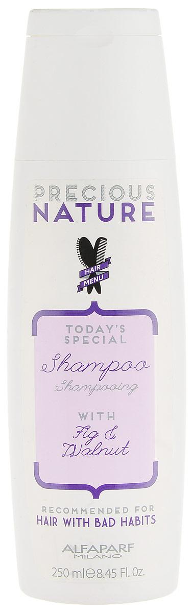 Alfaparf Precious Nature Shampoo for Bad Hair Habits Шампунь для волос с вредными привычками, 250 мл14720Бережное очищение и идеальный уход для восстановления и укрепления ослабленных, ломких волос. Волосы становятся сильными и плотными уже с первого применения. Входящий в состав экстракт инжира* сохраняет здоровье и блеск волос, а также улучшает естественную выработку коллагена. Масло грецкого ореха* способствует интенсивному питанию и укреплению волос изнутри. *100% натуральный ингредиент. НЕ СОДЕРЖИТ: сульфатов, парабенов, парафинов, минеральных масел, синтетических веществ, аллергенов*гипоаллергенные экстракты растений и ароматизаторыОбъем: 250 мл