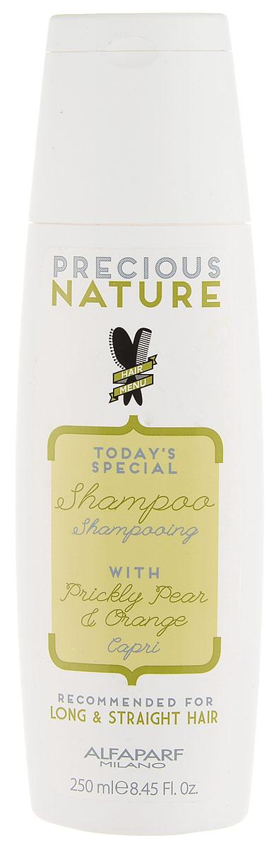 Alfaparf Precious Nature Shampoo for Long and Straight Hair Шампунь для длинных и прямых волос, 250 млSatin Hair 7 BR730MNРазглаживающий шампунь с маслом опунции для максимального контроля гладкости и блеска. Благодаря своим разглаживающим свойствам, масло опунции* делает волосы мягкими и шелковистыми, а входящий в состав экстракт апельсина* придает волосам сияние. -100% натуральный ингредиент. НЕ СОДЕРЖИТ: сульфатов, парабенов, парафинов, минеральных масел, синтетических веществ, аллергенов-гипоаллергенные экстракты растений и ароматизаторыОбъем: 250 мл