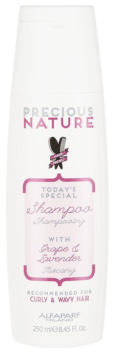 Alfaparf Precious Nature Shampoo for Curly and Wavy Hair Шампунь для кудрявых и вьющихся волос, 250 млFS-00897Мягкий очищающий шампунь для вьющихся, кудрявых и волнистых волос, обеспечивает максимальный контроль завитка. Входящие в состав эссенция лаванды и сыворотка винограда способствуют формированию идеальных, четко очерченных и разделенных волн, кудрей и завитков, не утяжеляя волосы. Сохраняет оптимальный уровень увлажненности и делает волосы гладкими. *100% натуральный ингредиент. НЕ СОДЕРЖИТ: сульфатов, парабенов, парафинов, минеральных масел, синтетических веществ, аллергенов*гипоаллергенные экстракты растений и ароматизаторыОбъем: 250 мл