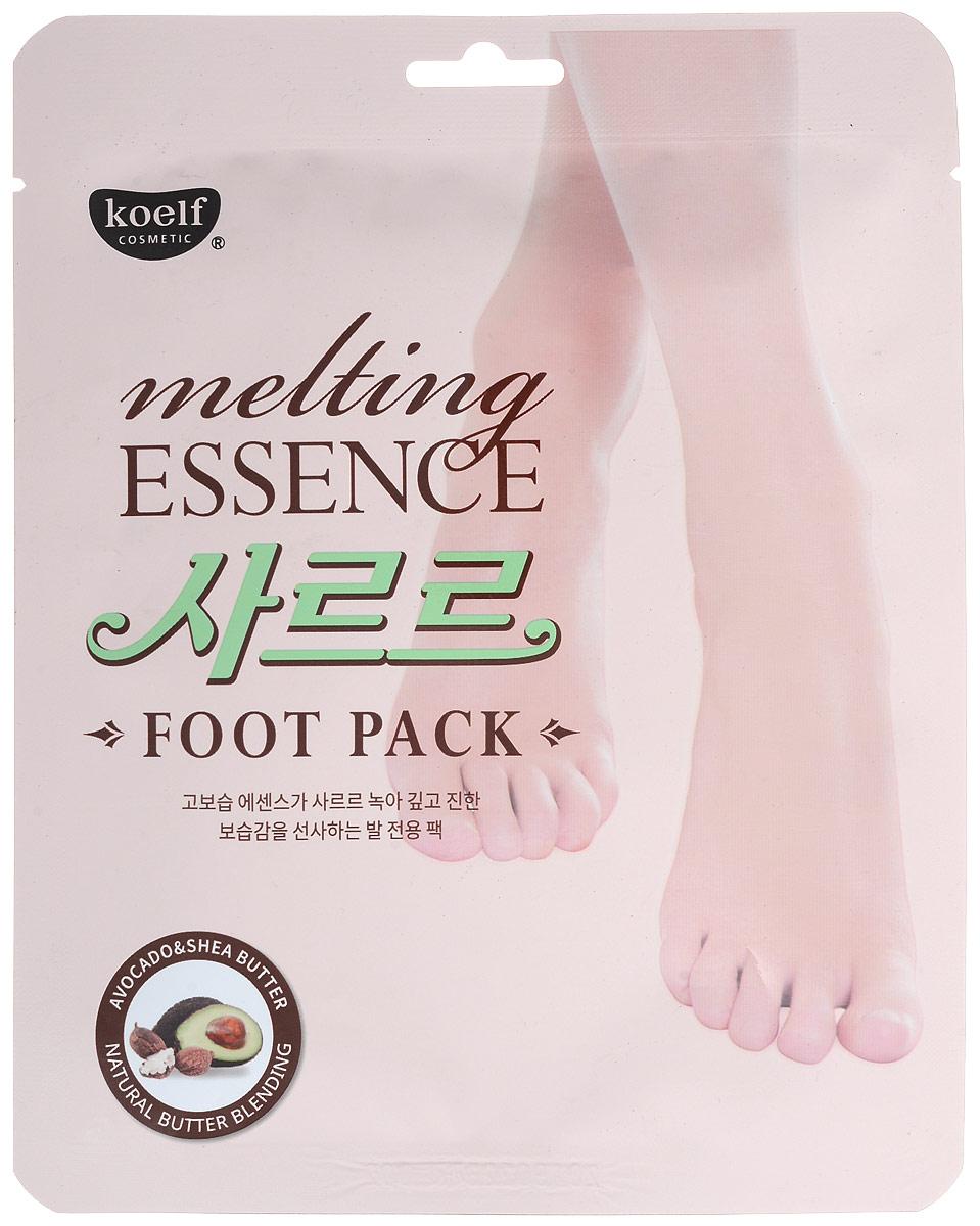 Koelf Маска-носочки для ног смягчающая Melting essence foot pack, 16 грFS-00897Натуральные масла, содержащие 7 растительных экстрактов, таких как масло Ши, авокадо и др. глубоко увлажняют кожу и делают ее мягкой и шелковистой.С тающим маслом активные ингредиенты глубоко проникают в кожу и увлажняют кожу ног на весь день.Мочевина, содержащаяся в составе, смягчает огрубевшую кожу и увлажняет ее.Экстракт улиточной секреции, масло чайного дерева, алоэ вера и коллаген смягчают кожу и питают ее.Маска не оставляет липкости на коже и моментально впитывается, благодаря инновационному методу обработки, текстура легко тает под воздействием температуры тела, удобна для использования в любое подходящее время.Способ применения:• Упаковка содержит пару носков со специальным слоем, который пропитан сухой эссенцией изнутри.• Для лучшего результата рекомендуется предварительно распарить в ванночке.• Вскройте упаковку и наденьте маску как носочки.• Достаточно подержать носочки 20-30 минут, затем снять и вмассировать остатки эссенции в кожу.