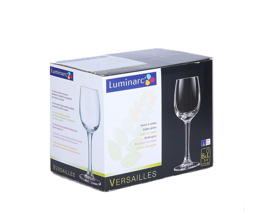 Набор рюмок Luminarc Versalles, 50 мл, 6 штSC-FD421004Набор Luminarc Versalles состоит из 6 рюмок на длинных тонких ножках, изготовленных из высококачественного стекла. Изделия оформлены в классическом стиле.Можно мыть в посудомоечной машине.