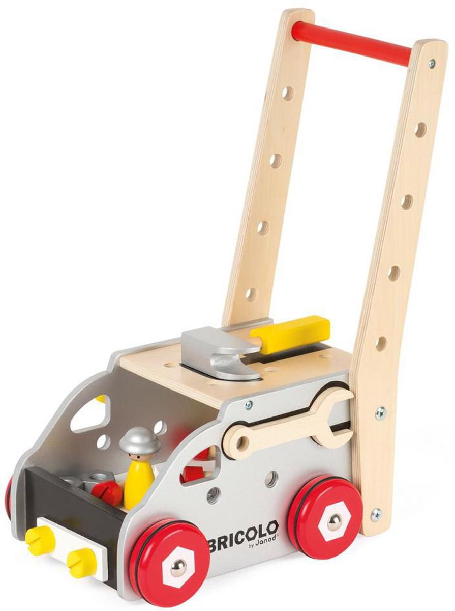 Janod Тележка-ходунки Мастер на все руки 24 элемента азбукварик мастер на все руки