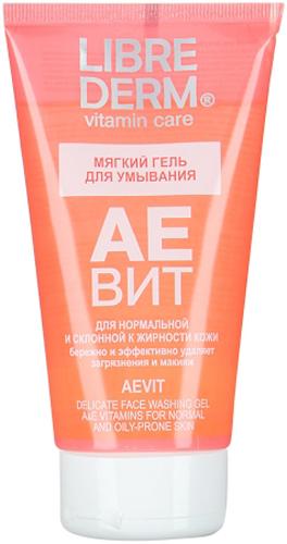 Librederm АЕвит мягкий гель для умывания 150 млFS-00897Мягкий гель для умывания бережно и эффективно удаляет загрязнения и макияж, готовит кожу к нанесению тонизирующих средств и средств основного ухода не оставляет ощущения стянутости и сухости синергия витаминов А и Е обеспечивает мощное антиоксидантное воздействие, защищает клетки от старения, ускоряет процессы регенерации, восстанавливает эластичность кожи